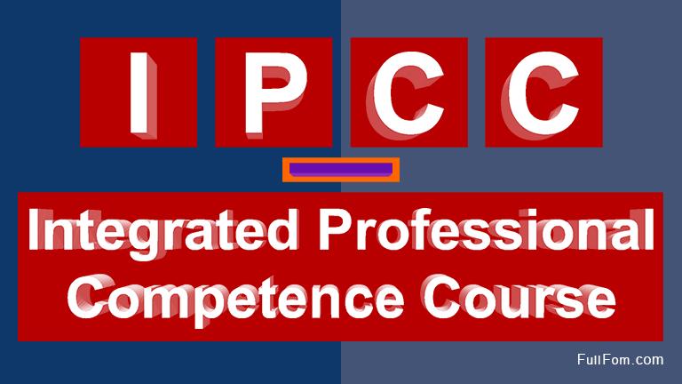 IPCC full form