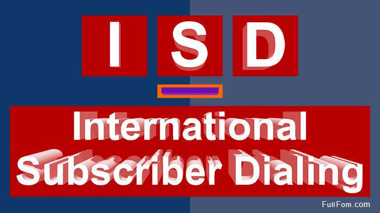 ISD full form