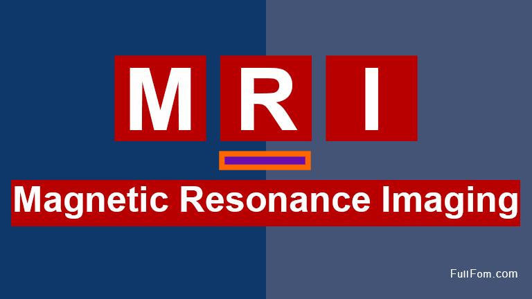 MRI full form