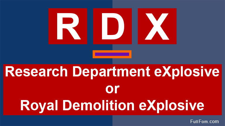 RDX full form
